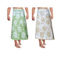 JBG Home Store 100% Cotton Floral Design Bath Towels( Set Of 2)