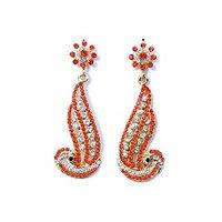 Women's Orange Stylish Earring
