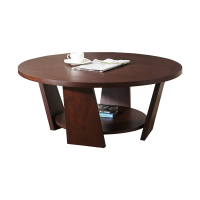 Afydecor Coffee Table With Storage Shelf In Brown