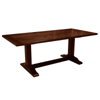 Afydecor Spanish Hacienda Style Dining Table In Brown