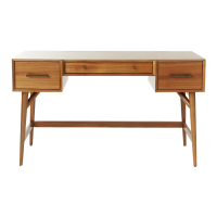 Afydecor Wooden Study Table In Honey