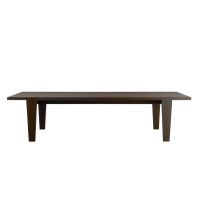 Afydecor Wooden Dining Table With Slat Detail In Brown
