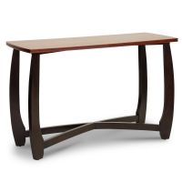 Afydecor Console Table With Curved Legs In Brown