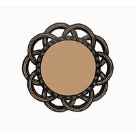 Wooden Beautiful Design Home Decorative Wall Hanging Round Shape Multiuse Mirror