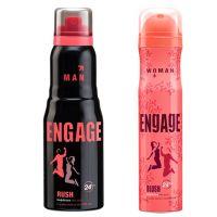 Engage  Deo (Rush, Blush) Pack Of 2- 165ml Each( Men  Women)