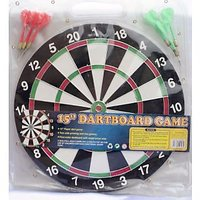 DART BOARD Game Double Sided Size 15 Inches Approx 37 Cm  With 6 Free Darts