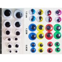 Googly Eyes 24 Pcs Colored 24 Pcs Black And White Wiggle Eye Doll Eye Jiggly Eye