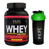 INLIFE Whey Protein 2Lb Strawberry Flavour With Free Shaker