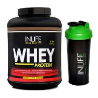 INLIFE Whey Protein 5Lb Cookies And Cream Flavour With Free Shaker