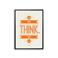 What We Think We Become Guatama Buddha Quotes Framed Poster