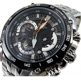 CASIO EDIFICE EF 550D 1A BLACK DIAL CHRONOGRAPH STYLISH MENS WRIST WATCH GIFT