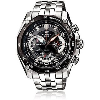 CASIO EDIFICE EF 550D 1AV BLACK DIAL CHRONOGRAPH TRENDY MENS WRIST WATCH GIFT U