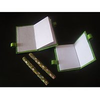 Rajasthani Designer Decorative Note Book  With Pen  Gift Return Gift Set Of 2