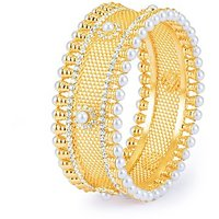 Sukkhi Sparkling Gold Plated AD Moti Kada For Women