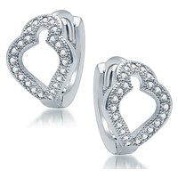 Sukkhi Glimmery Rhodium Plated Micro Pave CZ Earrings