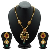 Sukkhi Traditionally Antique Gold Plated Kundan Necklace Set For Women