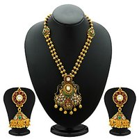 Sukkhi Resplendent Antique Gold Plated Kundan Necklace Set For Women