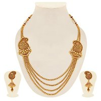 Sukkhi Incredible Gold Plated Kairi Design 4 String Necklace Set For Women