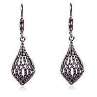 Designer Metalic Net Leaf Drop Earring