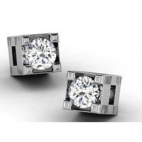 0.04 Cts Sparkles Diamond Earrings  In 18KT Gold