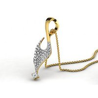 0.04 Cts Sparkles Diamond Pendant  In 18KT Gold