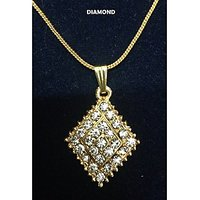 Diamond Shape Stone Pendant