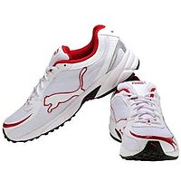 Puma Carlos White & Red Running Shoes