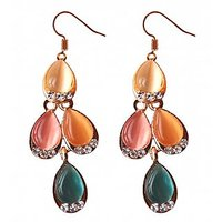 Fancy Dangle Multicolour Earrings - 686
