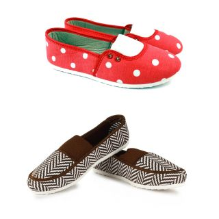 Combo Globalite Reterat Brown White With Milli Red White Women's Casual Shoes