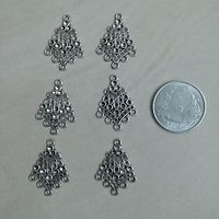 Silver Earring Findings Connectors -Antic Silver 3 Pairs ( 6 Pcs) Earring Making