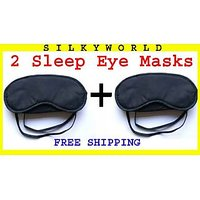 2 Pcs Comfortable Parachute Soft Soothing Relaxing Eye Mask Sleep Mask Eye Cover