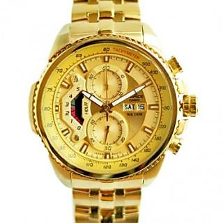 Casio Edifice EF 558 Full Gold Tone Chronograph Watch For Men