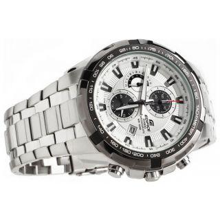 Casio Edifice Tachymeter Chronograph White Dial Men's Watch - EF- 539 D-7AVDF