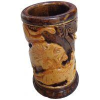 Parvidvap Handicrafts Wooden Antic Pen Stand
