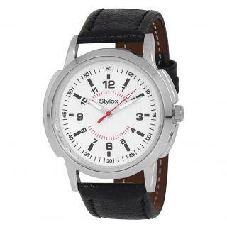 Stylox WH-STX122 White Dial (STX122) Analog Watch - For Men
