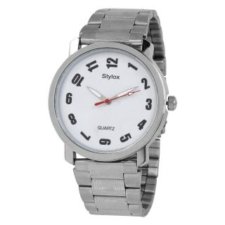 Stylox WH-STX209 White Dial Chain (STX209) Analog Watch - For Men