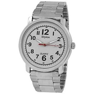 Stylox WH-STX212 White Dial Chain (STX212) Analog Watch - For Men
