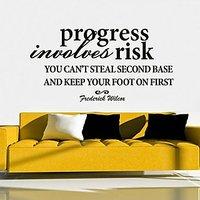 DeStudio Progress Involves Risk Size (45cms X 60cms)