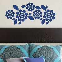 DeStudio Floral Decor Flowers Border Mural Wall Sticker Decal Home Wall Sticker Size (45cms X 60cms)