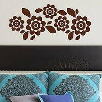 DeStudio Floral Decor Flowers Border Mural Wall Sticker Decal Wall Sticker Size (45cms X 60cms)