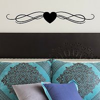 DeStudio Heart Love Bed Border Cute Decorwall Sticker Decal Wall Sticker Size (45cms X 60cms)