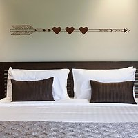 DeStudio Love Doves Birds Couple Wall Sticker Decal Home Wall Sticker Size (45cms X 60cms)