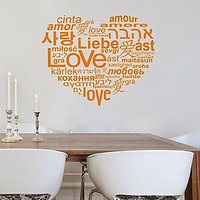 DeStudio Love Language Heart Home Wall Sticker Decal Wallart Home Wall Sticker Size (45cms X 60cms)