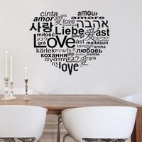 DeStudio Love Language Heart Home Wall Sticker Decal Wallart Home Wall Sticker Size (45cms X 60cms) - 74432328