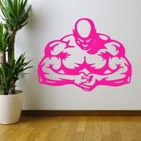 DeStudio Muscle Men Stength Gym Fitness Wall Sticker Decal Home Wall Sticker Size (45cms X 60cms)