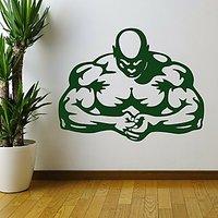 DeStudio Muscle Men Stength Gym Fitness Wall Sticker Decal Wall Sticker Size (45cms X 60cms)
