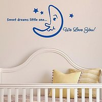 DeStudio Sweet Dreams Wall Sticker Child Love Decal Vinyl Wall Sticker Size (45cms X 60cms)