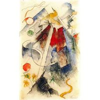 Sketch Of The Brenner Road [1] By Franz Marc - Fine Art Print