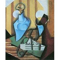 Still Life With Bottle And Glass By Juan Gris - Canvas Art Print