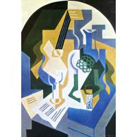 Still Life With Fruit Bowl And Mandolin By Juan Gris - Canvas Art Print
